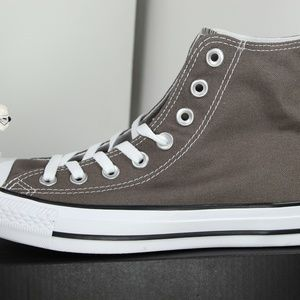 Converse Shoes - Converse Classic Charcoal Gray All Star High Tops